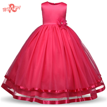 RBVH Flower Girl Dress For Weddings Kids Prom Gown Designs Fancy Tulle Girl Kids Party Wear Teenager Children Girl Costume 10Yrs