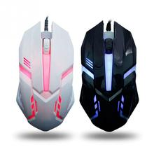 HOT Professional Wired  Backlighting Usb Mouse Racing Game Mouse Notebook Office Light Mouse For PC Laptop Desktop