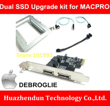New Product Dual SSD upgrade kit for MACPRO Upgrade Combination Set Series with dual SSD bracket SATAIII Card and Cables(China)