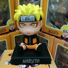 Cute Bobblehead Naruto Action Figure DIY Animation Doll Kids Toy Miniature Model For Car Decoration Doll House(China)