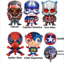 The New Captain American Air Aluminum Foil Balloon Birthday Party Helium Balloon Party Decoration Children's Toys