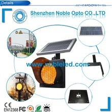 High Visibility LED Solar Traffic Light With Solar Panel For Sale(China)