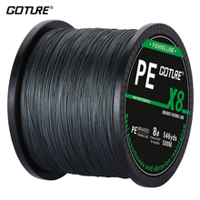 Goture 500M/546Yds PE Braided Fishing Line Rope Wire Multifilament 8 Strand Weaves Super Strong Japan Line Carp Fishing(China)