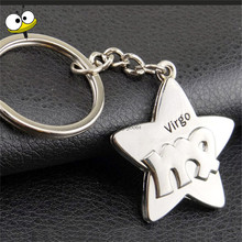 Car Accessories Car Keychain Constellation Aries Key Rings Key Holder For Buick Peugeot Citroen Chrysler VW GTI Mitsubishi Ford(China)