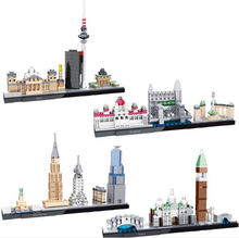 New 4 Models Mini Blocks Hsanhe National Arts Street Venice Budapest Berlin New York City Building architecture berlin #6362