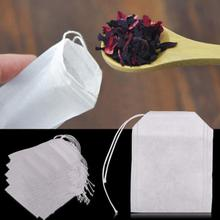 100pcs/lot Empty Teabags String Heat Seal Filter Paper Herb Loose Tea Bags Teabag  5.5cm*6cm for Home and Travel necessities