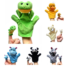 2PCS Lovely Kids Baby Plush Toys Finger Puppet Talking Props Animals Hand Puppets  7KZB