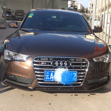 For Audi A5 Modified S5 Style Black Front Hood Center Grille Grill Car Styling 2012 2013 2014 2015 2016