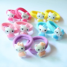 10 Pcs/Lot Sweet Various Pattern Cartoon Character Elastic Hair Ropes Bands Ropes Kids Hair Accessories