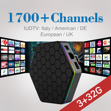 T95Zplus Android 6.0 TV Box 3G 32G Amlogic S912 with Free 3\6\12 Months IUDTV Iptv Code Europe French UK Arabic IPTV Set Top Box