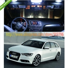 Free Shipping 11 PCS car-styling Canbus White SMD LED Interior Lights KIT FOR Audi A6 C7 Avant Facelift