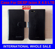 Hot!DEXP Ixion X 4.5 LTE Case New 2016 items Factory Price Flip Leather Cover For DEXP Ixion X 4.5 LTE Case+tracking number(China)