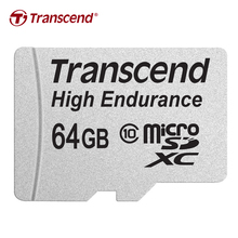 Transcend High Endurance microSDXC MLC NAND Memory card 64GB Up to 12,000 hours Full HD video recording micro sd card