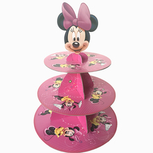 3-tier cake stand cupcake holder girl Minnie mouse birthday party supplies kids baby shower party favor decoration cupcake stand