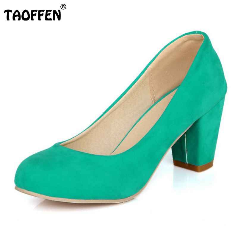 TAOFFEN free shipping high heel shoes women sexy dress footwear fashion lady female pumps P12401 hot sale EUR size 31-43<br><br>Aliexpress
