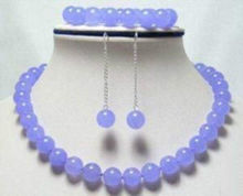 women high quality 10mm Lavender Round Beads Necklace Bracelet Earrings Grade Jewelry Wholesale and retail(China)