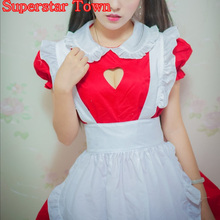 Sexy Open Chest JK Maid Uniform Cosplay Kawaii Outfits Headband Fancy Party Dresses Lolita Apron Maid Uniform Costume Halloween