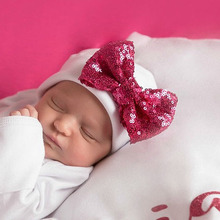 Super Soft Cotton Newborn Baby Hat Little Girl Spring Bow Hat Infant Beanies Cap Take Home Hat Baby Gift SW169