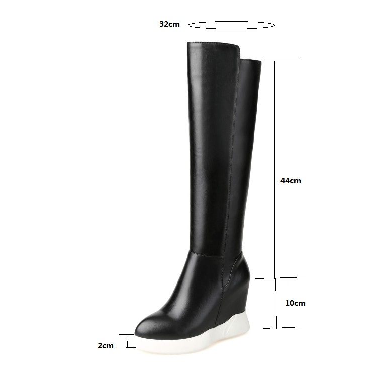 SALCXOI winter boots women knee high boots height increasing shoes woman autumn women shoes ladies shoes free shipping &H15