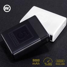 WK 5000mAh Portable Charger Slim Mini Power Bank 18650 Powerbank External Battery Xiaomi Power Bank iPhone X Bateria Externa