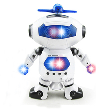 Baby Toys Cute Electric Music Light Dancing Robot Smart Toys Space Walking Toys For Children Kids Music Light Kid's Toy(China)