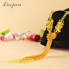 Buy 2017 New Fashion Crystal Long Necklace Tassel Necklace Black Beads Chain Necklace Gifts Jewelry Tassel Chain Choker Women for $9.29 in AliExpress store