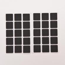 1Set=48pcs Square Multifunction Black Self Adhesive Furniture Leg Table Chair Sofa Feet Floor Non-slip Mat Sticky Pad Protector