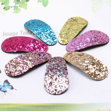 Hot Sequined Kids Hair Clip Glitter Handmade BB Hair Clips Multi-Color Sweet Sequins Barrette Toddel Hair  Accessories