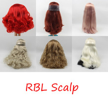 free shipping fortune days RBL Blyth Doll icy Scalp and dome Wig hair with or without bangs 1/6 gift toy(China)