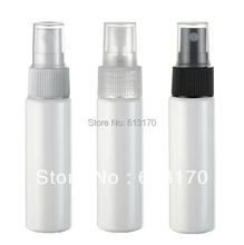 Free shipping 30ml spray bottle pet perfume bottle nozzle three color cosmetic packaging white 50pcs/lot wholesale/retail
