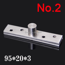 HOT 2PCS Stainless Steel 95*20*3.0mm Door Hinges 360 Degree Upper and Lower Hinge Rotating Door Pivot Hinges K186(China)