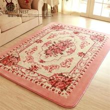 150X200CM Thicken Flower Carpets For Living Room Home Bedroom Rugs And Carpets Soft Warm Coffee Table Area Rug Children Play Mat(China)