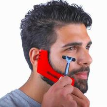 Good quality Z shape beard shaper beard styling template as whiskers sidebums comb for hairline facial hair shaping tool