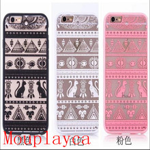Mouplayca Case For iPhone 5 5s 6 6splus 7 7plus Egyptian culture Bud silk pattern TPU back cover Phone case++++++++gift