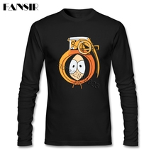 Anime South Park Tee  Shirts Men's Round Neck Long Sleeve Cotton High Quality Men Shirts 3XL