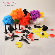 400 pcs Assemble 3D Puzzle DIY Puff Ball Squeezed Ball Creative Thorn Ball Clusters Handmade Educational Toys Birthday Gifts(China)