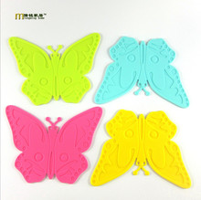 1PC Longming Home Table Mat Cute Butterfly Shape Table Pad Heat Insulation Cup Mat Coaster Cushion Silicone Placemat LB 315