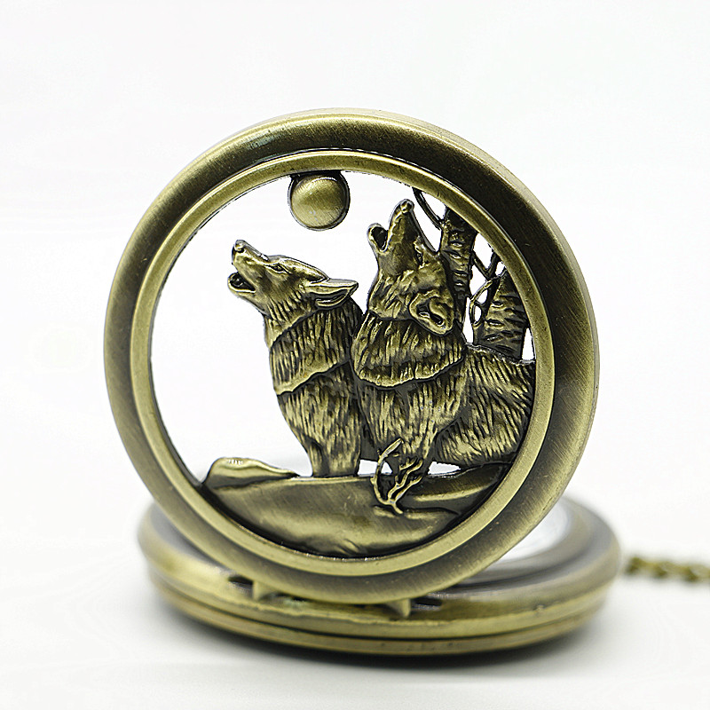 2017-New-Arrival-Vintage-bronze-Moon-Wolf-Pocket-Watch-Necklace-Pendant-Gifts-Clock (1)