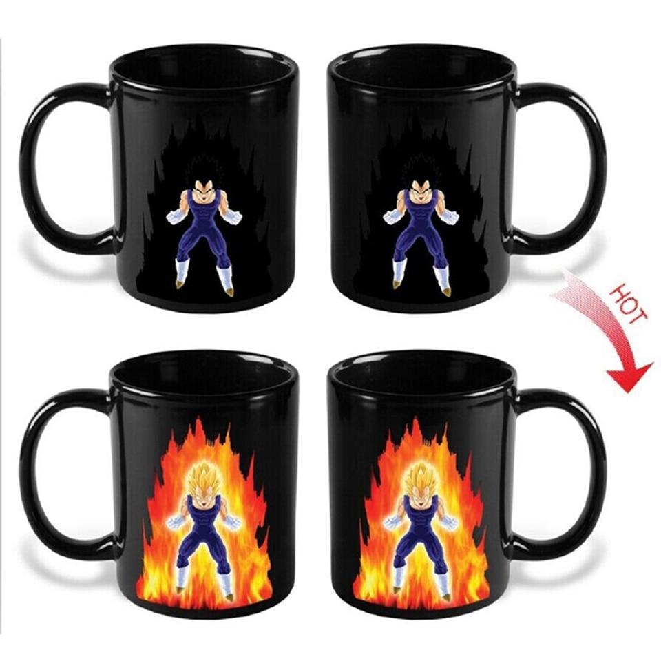 Transhome Creative Color Changing Mug 300ml Dragon Ball Z Vegeta Heat Sensitive Ceramic Temperature Sensing Rtic Milk Coffee Mug