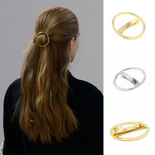 12 PCS Punk Gold Silver Color Round Metal Hair Barrette Circle Hair Clip Hairpin For Women Girls Hair Accessories Head Jewelry