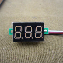 DC Mini Digital Voltmeter DC 0-100V Red LED Slim Digital Panel Meter with Ear Car Motorcycle Battery Monitor Voltmeter #0000