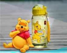 400ml cute Eco-friendly Kid baby cups baby cartoon water bottle children Straw Bottle Children kettle sports bottl
