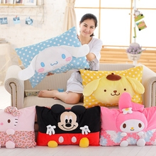 1pcs 64 * 42cm Creative 3D Mickey &Mouse Plush Pillow Case dog&kitty Plush Toys Children's Toys Home Decorati