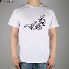 Jiu Jitsu Clip Art Related T-shirt cotton Lycra top  Fashion Brand t shirt men new