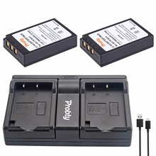 PROBTY 2Pcs PS-BLS1 PS BLS1 Battery + USB Dual Charger for Olympus PEN E-PL1 E-PM1 EP3 EPL3 Evolt E-420 E-620 E-450 E-400 E-410