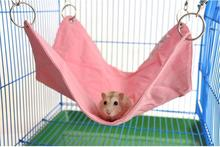 Pet Hamster Hammock Durable Canvas Rabbit Guinea pig Rat Hanging Bed Cage Mat With Hole In the Middle