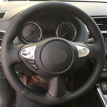 Car Steering Wheel Cover Black Genuine leather for Infiniti FX FX35 FX37 FX50 Special customization
