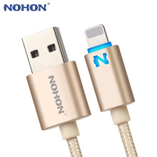 NOHON For Apple USB Charger Data Cable For iPhone 8 7 6 6S Plus 5 5S 5C iPad Mini Air iPod USB Cable LED Light Auto Power Off(China)