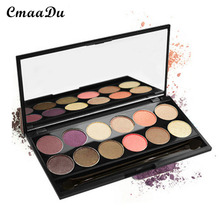 CMAADU Silk Stirring 12-color Wet and Wet Dual-use Heroes Lasting Natural Effects Baking Process Breathable Good Eye Shadow