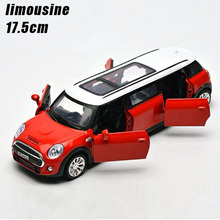 1:32 kids toys extended limousine metal toy cars model pull back car miniatures gifts for boys children(China)